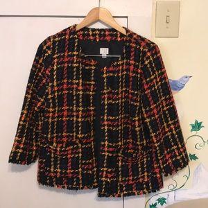 A New Day plaid tweed blazer jacket